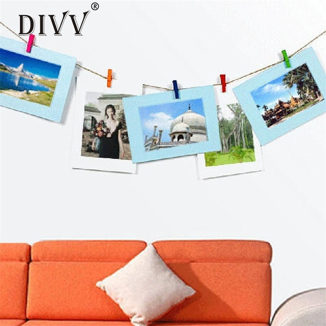 DIVV 6 Inch Creative Gift DIY Wall Hanging Paper Photo Frame Wall ...