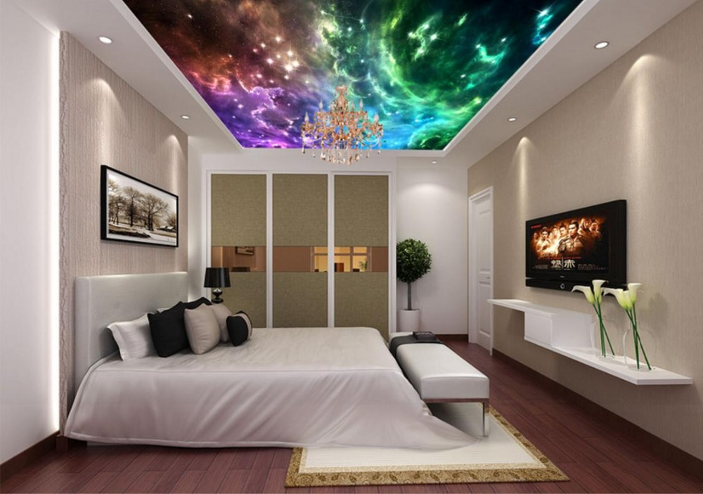 3d Ceiling Murals Wallpaper Star river Living Room Bedroom Ceiling 3d Stereoscopic Wallpaper blue sky and white clouds ceiling murals wallpaper living room bedroom hotel 3d ceiling wallpaper background