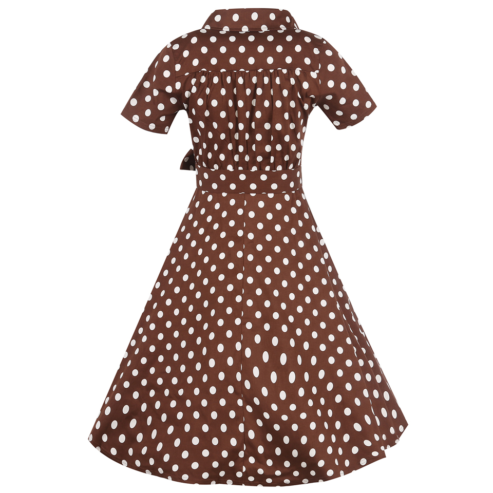 Oxiuly Plus Size Woman Retro Dresses 2017 Audrey Hepburn 1950s 60s  Rockabilly Polka Dot Bow Pinup Ball Grown Party Robe Vestidos-in Dresses  from Women s ... f3fb1b7935c5