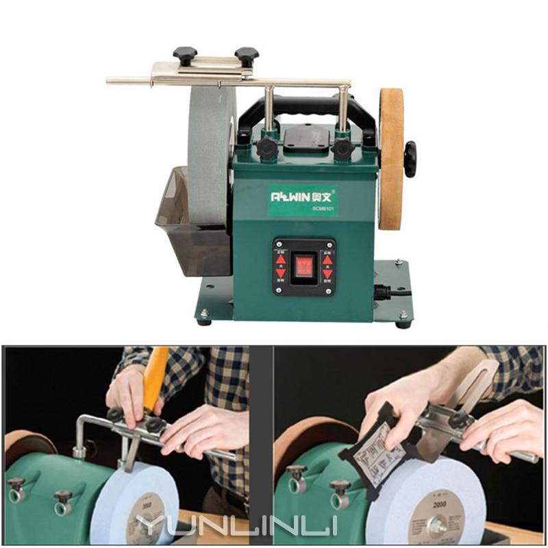 10inch Belt Sander & Bench Grinder Water Cooled Sharpening Machine Multifunction Belt Grinding Polishing Sanding Machine SCM8101