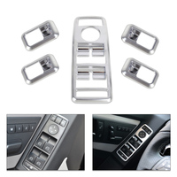 DWCX Car Styling Chrome Door Window Switch Panel Cover Trim For Mercedes Benz A W176 B