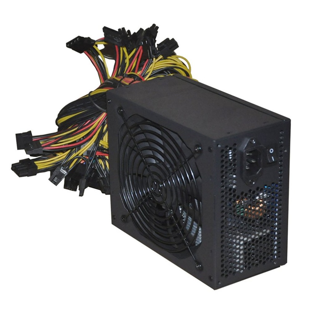 2000W ATX Gold Mining Power Supply SATA IDE 8 GPU for ETH BTC Ethereum Coin Miner Support 8 Graphics Card Power Supply