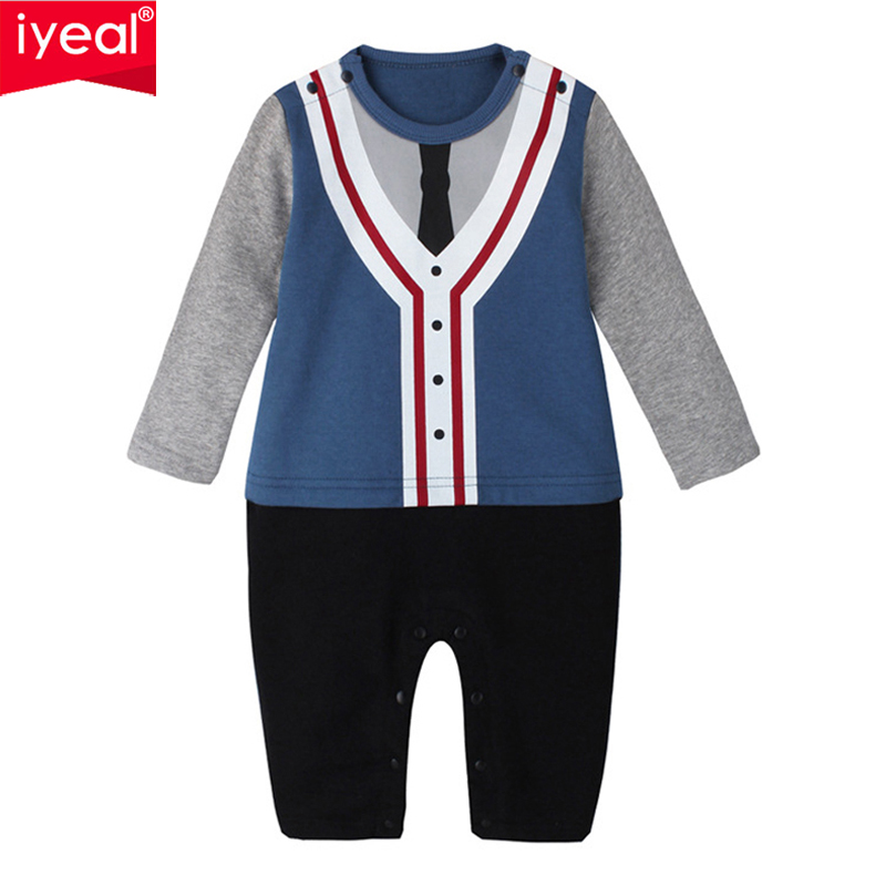 IYEAL Baby Boy Romper Cotton Bow Tie Gentleman Party Clothing Spring Toddler Prince Costume Infant Jumpsuits Kid Newborn Clothes top and top summer toddler boy clothes gentleman boy clothing set bow tie romper top straps shorts boys wedding party clothes