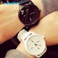 Negro Blanco Pareja Relojes Mesas Moda Harajuku Color Del Encanto Analógico Dial Grande Hombres Mujeres Vestido Reloj Reloj de Silicona