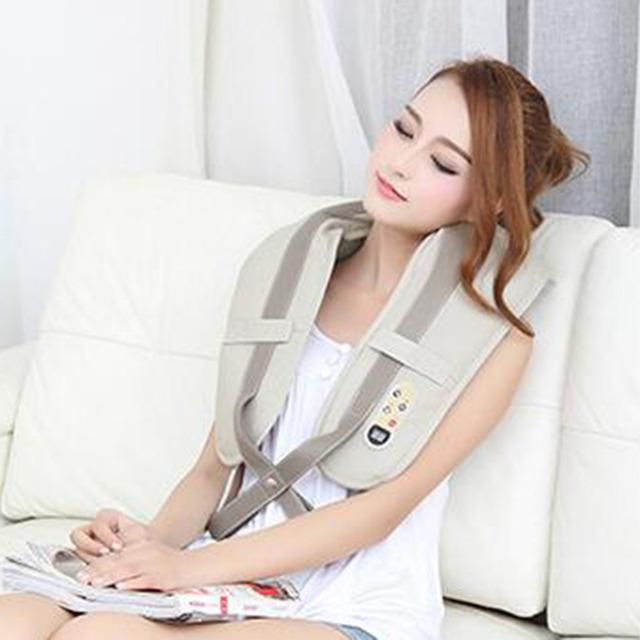Alta Qualidade Corpo Massageador Dispositivo de Massagem Ombro Capa Fina Do Pescoço Para Trás Forma Plugue Cinto 10-20 níveis de massagem