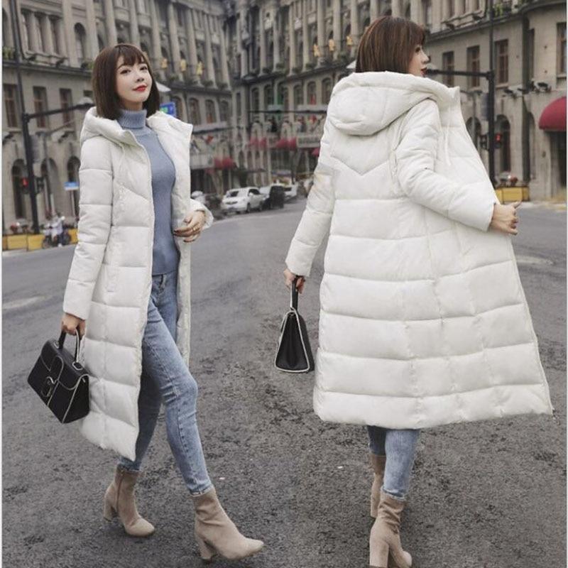 Winter Jacket Female   Parka   Coat Plus size M-6XL Fashion Down Jacket Long Hoodie Down Thick Long Coat Jacket Women Clothing