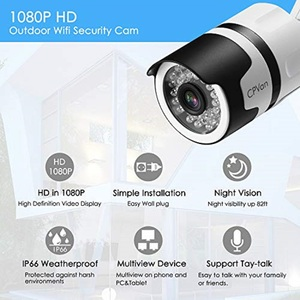 Image 3 - CPVan IP6 IP Camera HD 1080P WiFi Bullet Camera with Waterproof Night Vision Motion Detection Wireless Outdoor Video Surveillanc