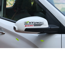 Lsrtw2017 Car Styling Rearview Sticker for Hyundai Encino Kona 2018  2019 2020 Accessories