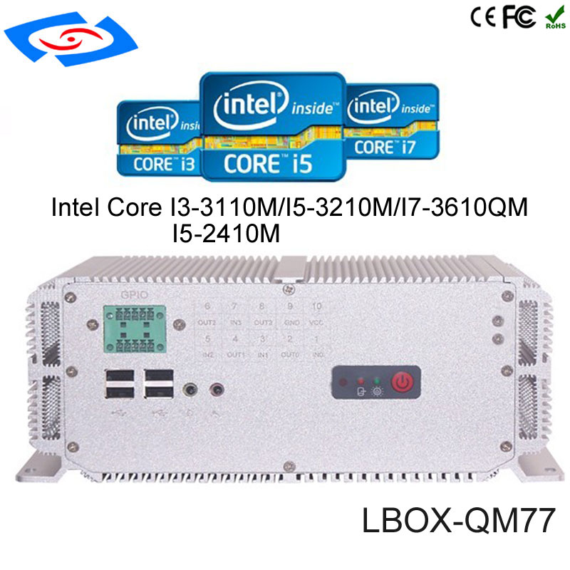 Factory Store Low Price Wide Operating Temperature -25-80 Degree Embedded PC With WIFI/3G/SIM Socket Fanless Mini Industrial PC