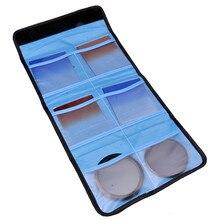 מצלמה UV CPL FLD ND צבע מסנן ארנק עדשת מתאם טבעת אחסון תיק Case פאוץ מחזיק 3 4 6 כיסים X