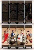Офисный стол складной мини Экраны 6 присоединился к панели декоративные роспись по дереву бебу Четыре красавицы в древнем Китае