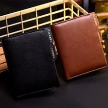 RFID Theft Protect Coin Bag zipper men wallets famous brand mens wallet male money purses Wallets  New Design Top  Men Wallet