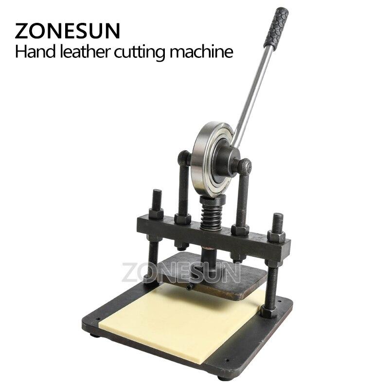 ZONESUN cuir machine de découpe 20x14cm pour papier photo PVC/EVA feuille moule coupe découpe cuir estampage artisanat - 4