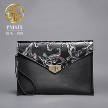 Pmsix 2017 New long wallet women Split  leather Clutch  large capacity black purse P520011