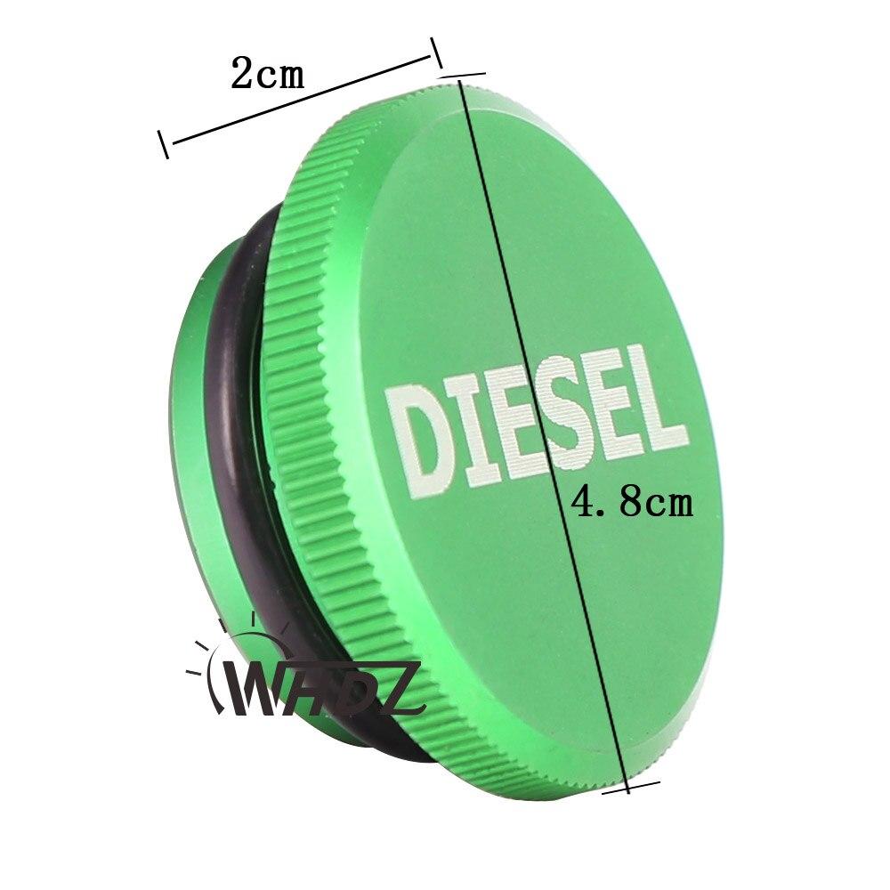 For 2013-2017 Dodge Ram Diesel Billet Aluminum Fuel Cap Magnetic Truck Permanent Cap Green
