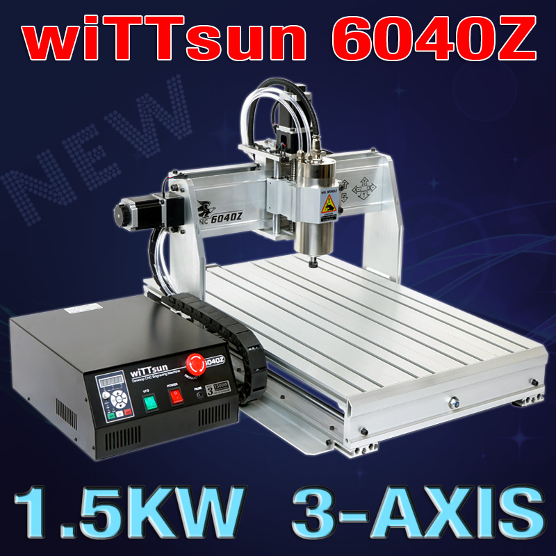 USB Port , 6040 cnc router ( 1.5KW spindle ) cnc engraver / engraving drilling and milling machine +mach3 + limit switch diy cnc router machine 2020 engraving drilling and milling machine with parallel port