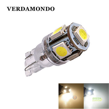 T10 W5W 194 168 Lamp 5-SMD 5050 LED MAKER DOME Interior Wedge White Warm White Lights 6000K Bulbs For Truck DC 24V image