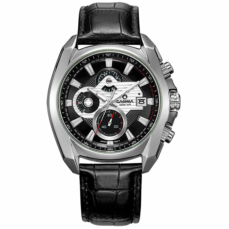 CASIMA Fashion Sport Men Watch Top Brand Luxury Chronograph Wrist watch Male Clock Business Quartz-watch Relogio Masculino stels adrenalin md 26 20 2015 black blue