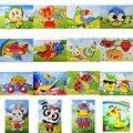Niños de los niños 3D de Espuma EVA Pegatina Puzzle Juguetes DIY Animal de la Historieta de Aprendizaje y Educación Juguetes de Múltiples patrones de Estilos Al Azar