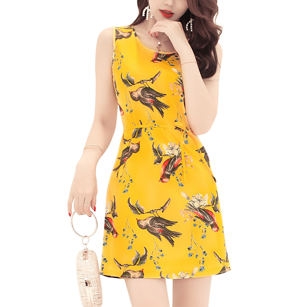 8a9827f3c5 In the summer of 2018 the new amazon wish roses printed vest dress Ebay  cross border detonation model-in Dresses from Women s Clothing on  Aliexpress.com ...