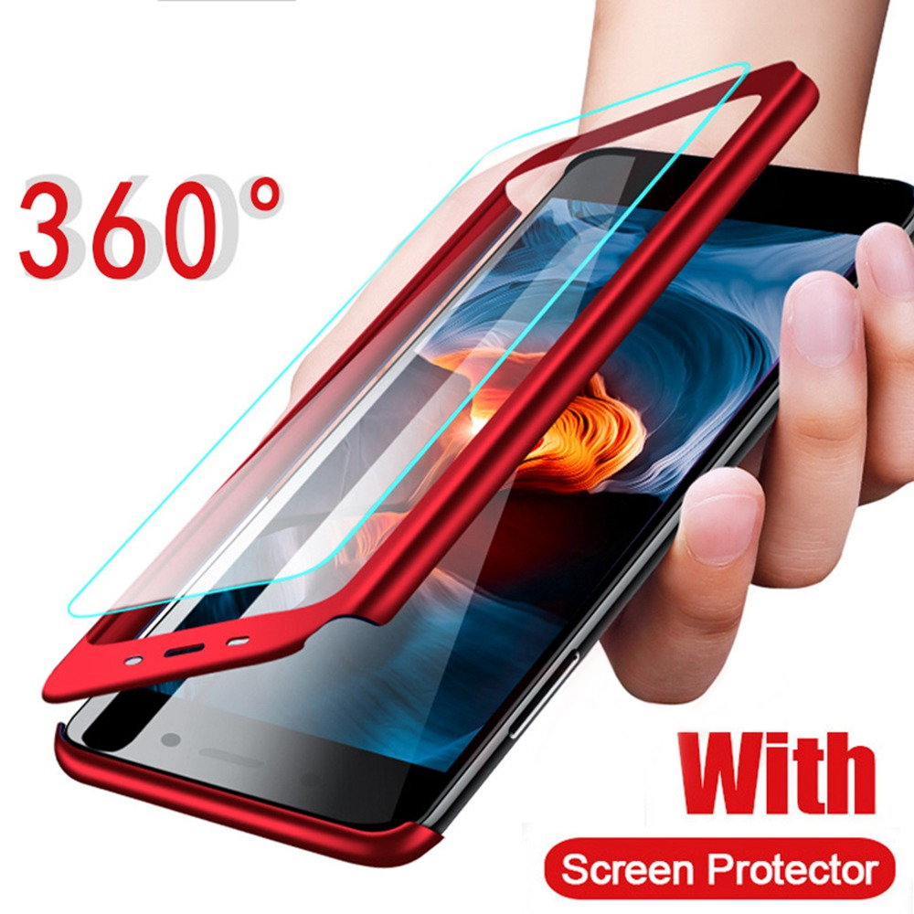 360 volle Protector PC Fall Für <font><b>Samsung</b></font> Galaxy A6 A8 J4 <font><b>J6</b></font> Plus J8 <font><b>2018</b></font> A3 A5 A7 J3 J5 j7 S6 S7 S8 S9 Plus Hinweis 9 Fall Mit Glas image