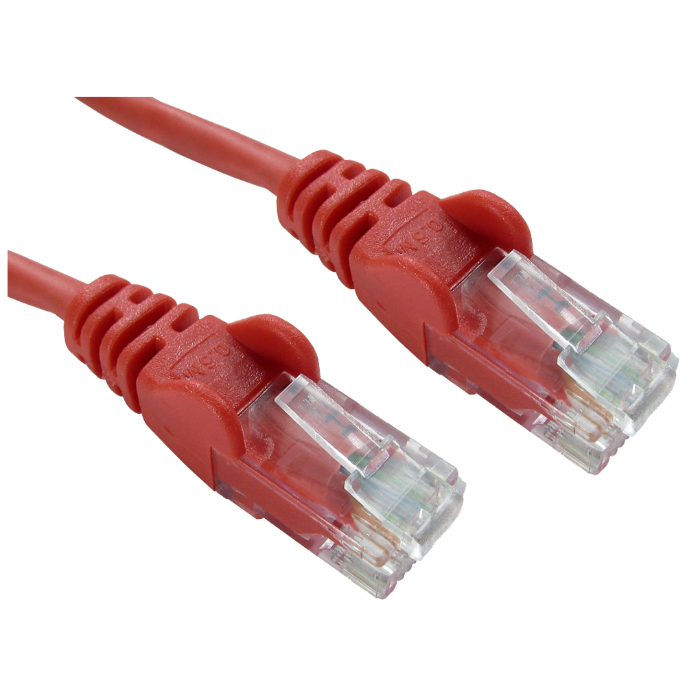 TOP RJ45 Ethernet Cat5 Network Cable LAN Patch Lead , 15m Red 1pcs