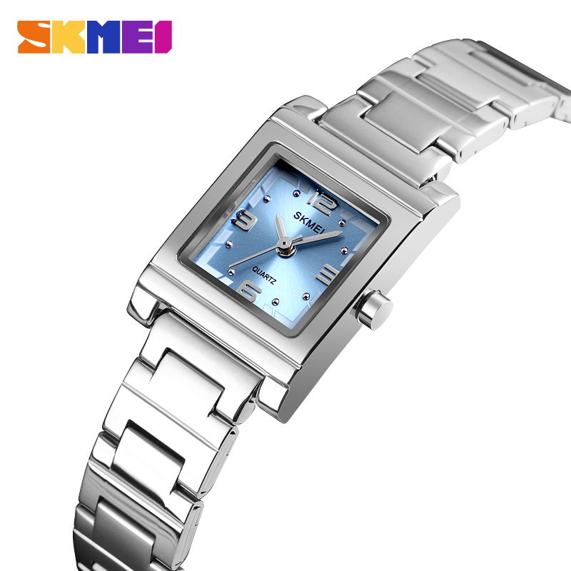 SKMEI New Women's Watches Luxury Brand Full Steel Quartz Ladies Watch Fashion Crystal Ladies Dress Wristwatches Relogio Feminino
