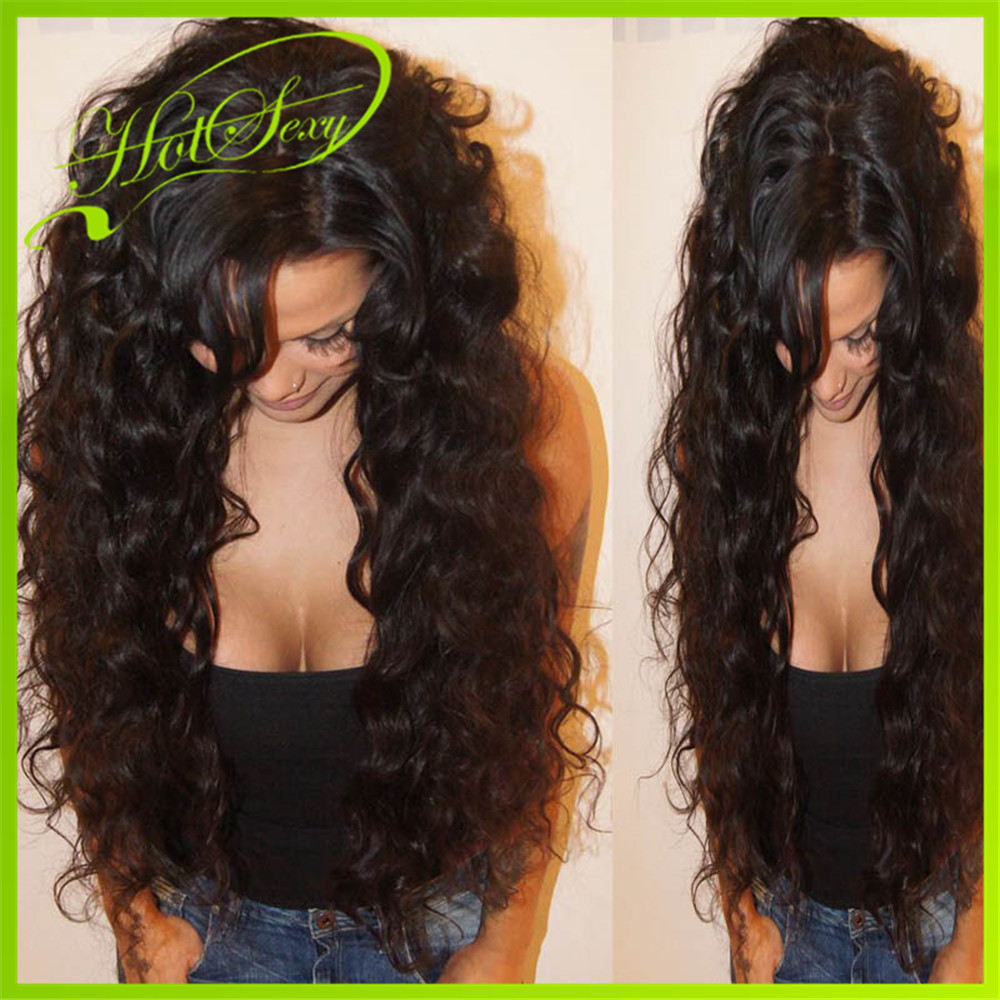 ... Curly Loose Wave Glueless Front Lace Wig