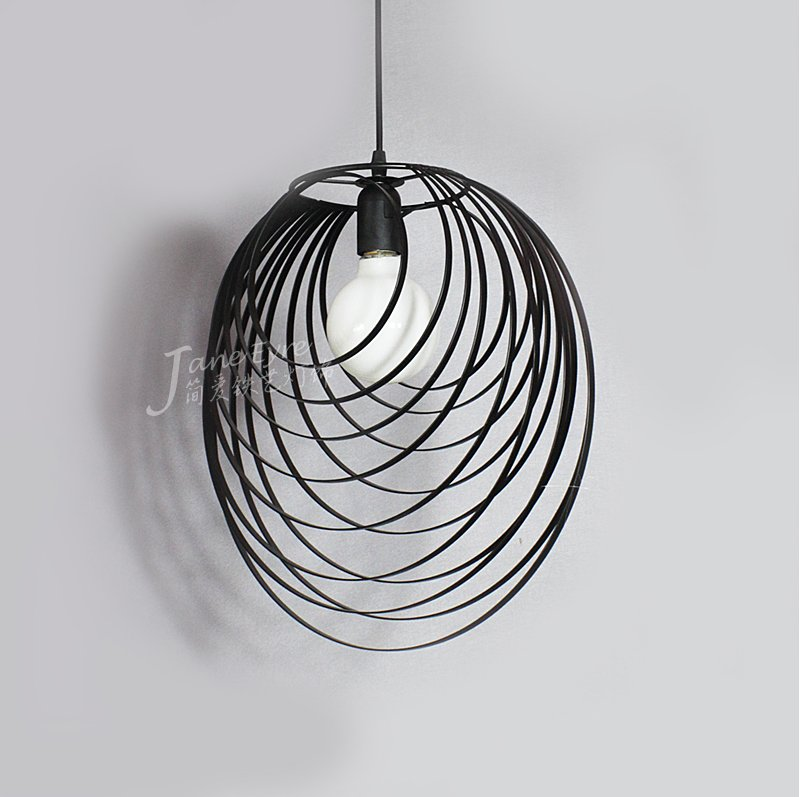 wire pendant lighting. aliexpresscom buy industrial wire cage pendant light cafe loft warehouse lighting black cord e27 from reliable suppliers on fire and g
