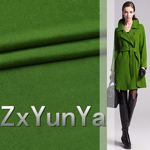 The new 148cm wide 91.7% cashmere wool fabric high grade green hair along the wool fabric autumn and winter wool fabric