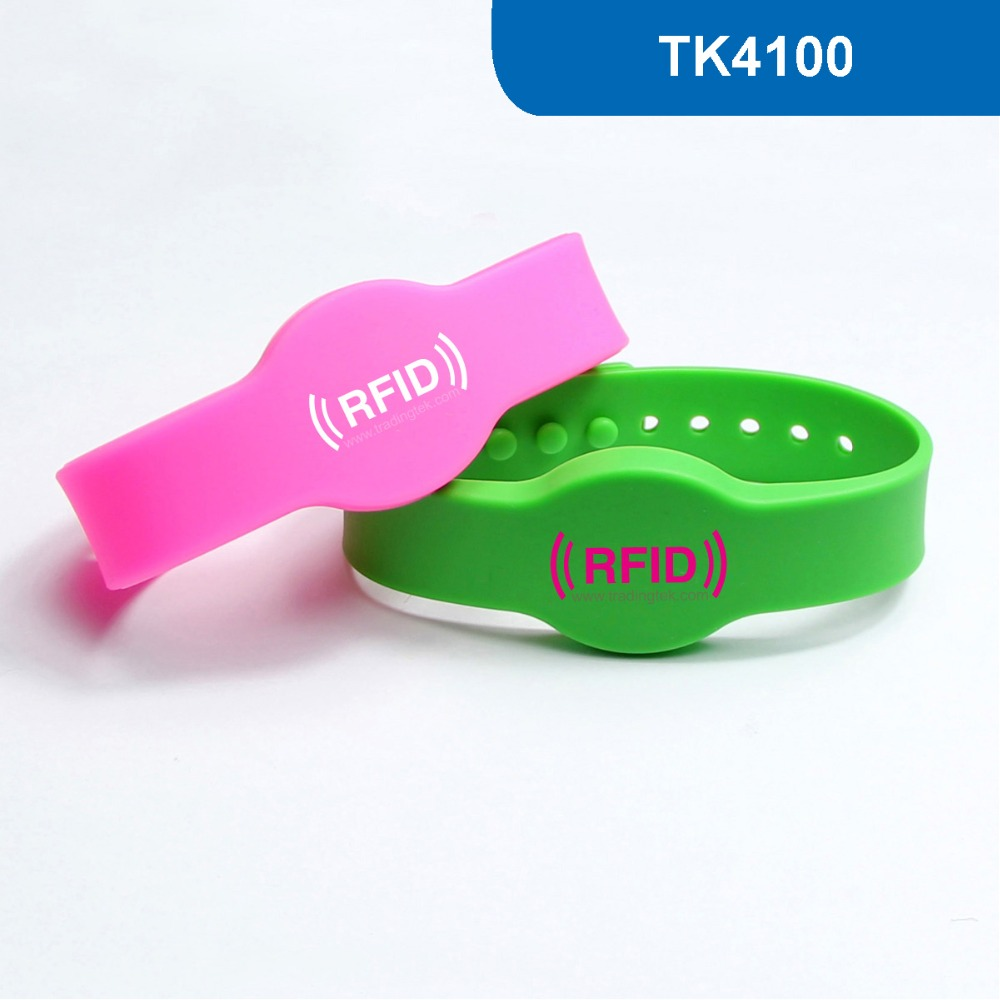 WB04 Silicone RFID Wristband RFID Bracelet Proximity Smart EM Card Frequency 125KHz for Access Control With TK4100/EM4100 Chip купить