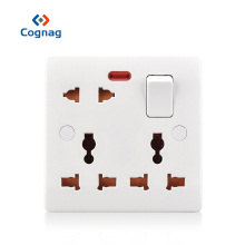 Cognag pop multi universal socket switched electric outlet 8 pin bakelite material 13A UK