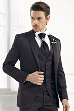 Latest Coat Pant Designs Black font b Men b font Wedding font b Suits b font