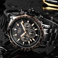 2019 Nova LIGE Homens Relógios de Negócio Masculino Relógio de Quartzo do Aço Inoxidável Dos Homens Casuais À Prova D' Água Esporte Relógio De Pulso Relogio masculino