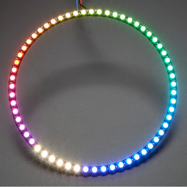 60*5050 RGBW 4500K LED With Integrated Drivers Natural White Ring Need Soldering Module DIY Kit chic spaghetti strap vertical striped one piece swimwear for women