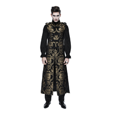 Steampunk Men Long Waistcoats Gothic Victorian Sleeveless Vest Jackets Party Printed Formal Waistcoats Outwear
