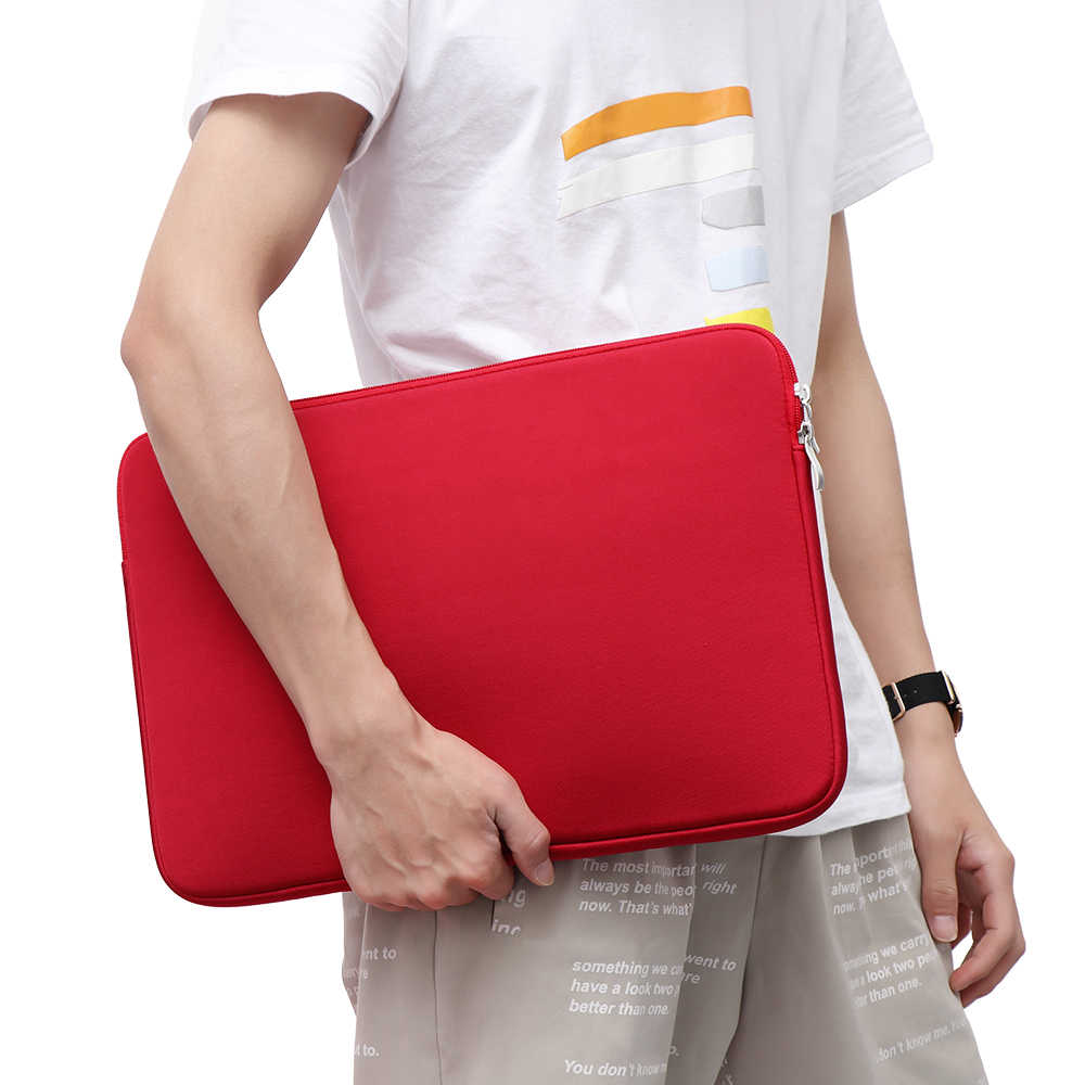 11 13 14 15 Inch Zachte Notebook Pouch Aktetas Laptop Bag Sleeve Case Cover Voor Macbook Air Pro Lenovo Hp dell Asus