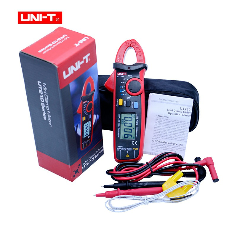 UNI-T UT210D Digital Clamp Meters Multimeter True RMS AC/DC Current Capacitance Tester Digital Multimeter LCR Meter Megohmmeter uni t ut210e digital multimeter true rms ac dc current mini clamp meters dmm capacitance tester digital earth ground multimeter