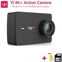 В наличии Xiaomi YI 4 К + ПЛЮС Действие Камера первые 4 К/60fps Амба H2 SOC Cortex A53 IMX377 12MP CMOS 2,2 НРС Оперативная память EIS WI FI