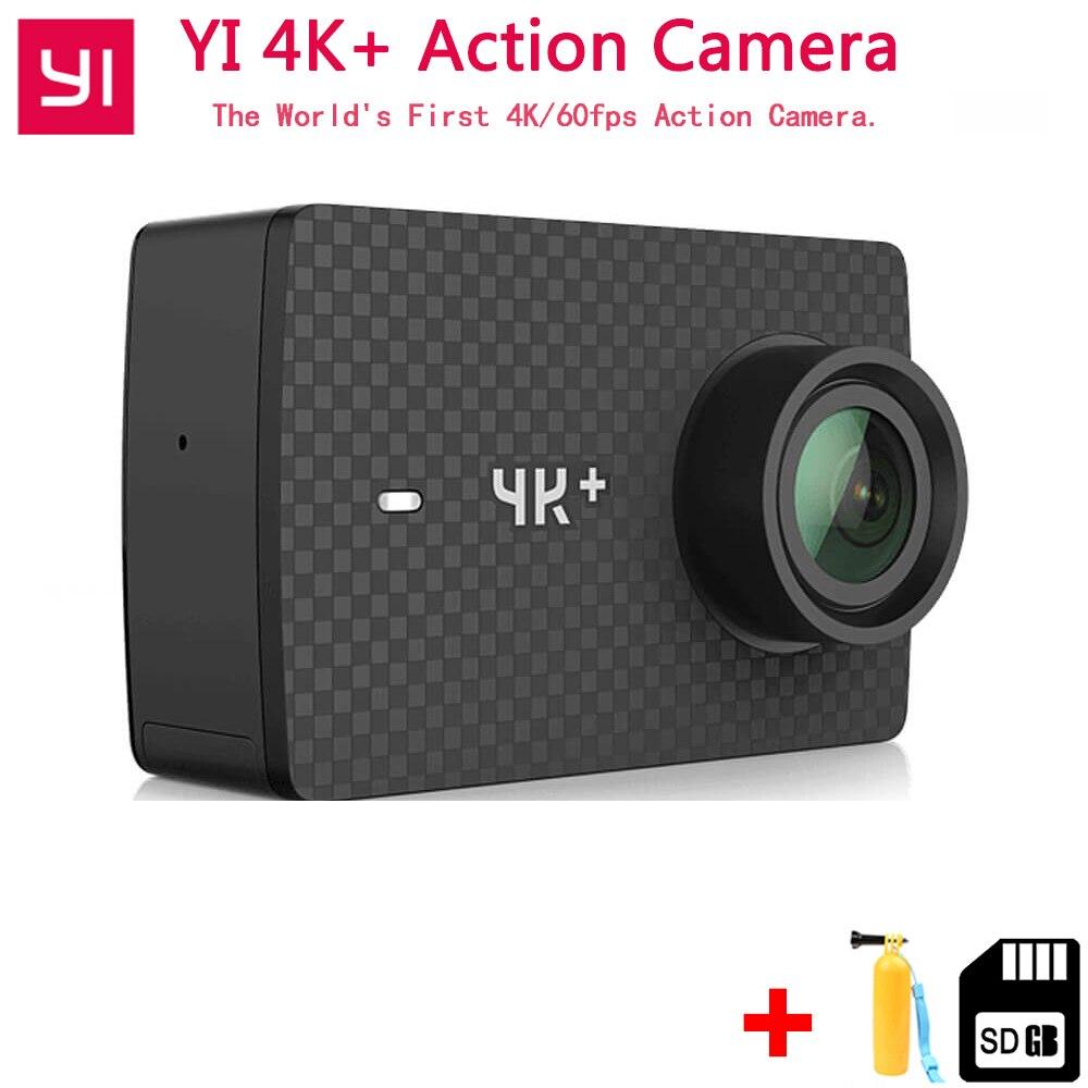 EM Estoque Xiaomi YI 4 k + Plus Câmera de Ação EM PRIMEIRO LUGAR 4 k/60fps Amba H2 SOC Cortex-A53 IMX377 12MP CMOS 2.2 EIS LDC RAM WIFI