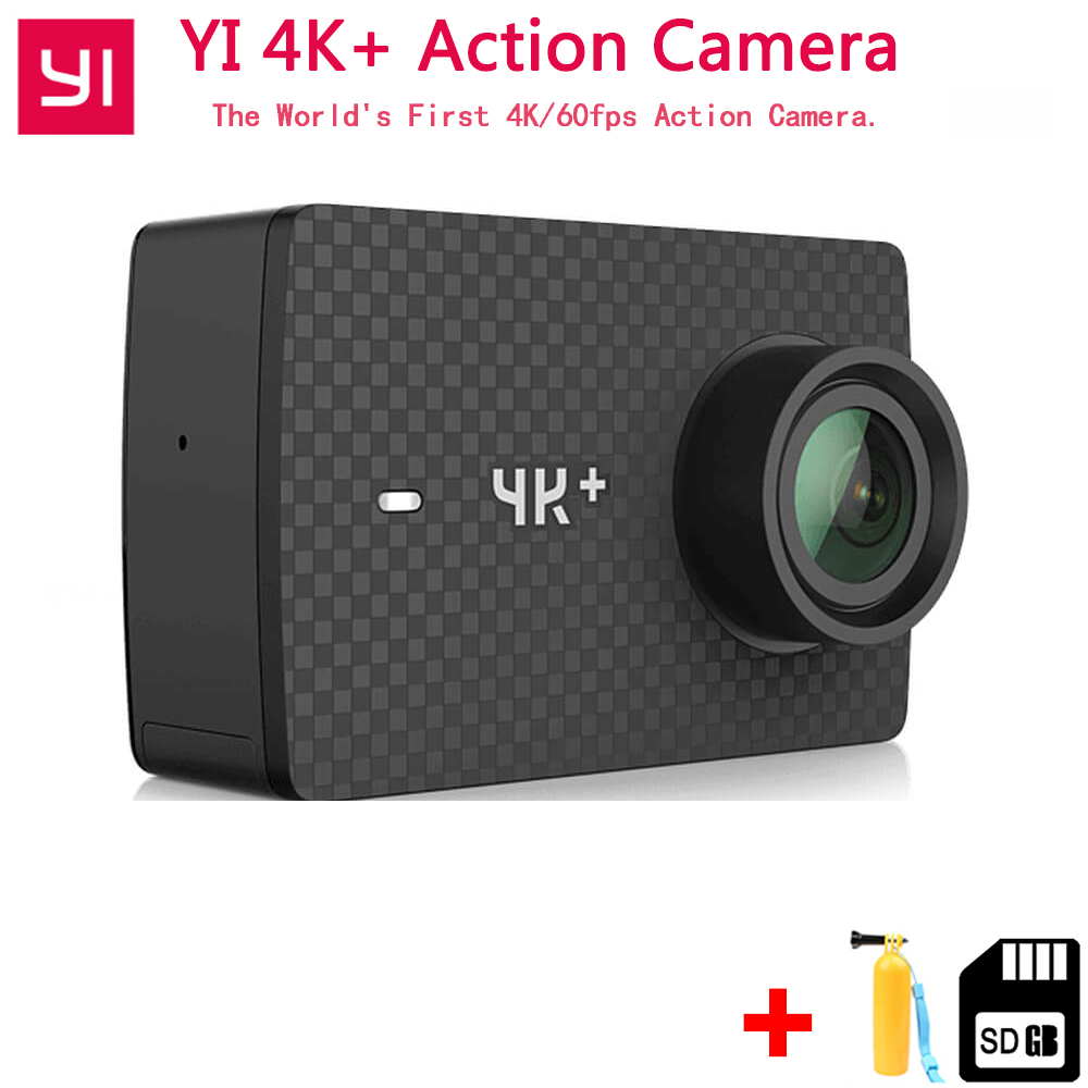 IN Stock Xiaomi YI 4K+ Plus Action Camera FIRST 4K/60fps Amba H2 SOC Cortex-A53 IMX377 12MP CMOS 2.2LDC RAM EIS WIFI