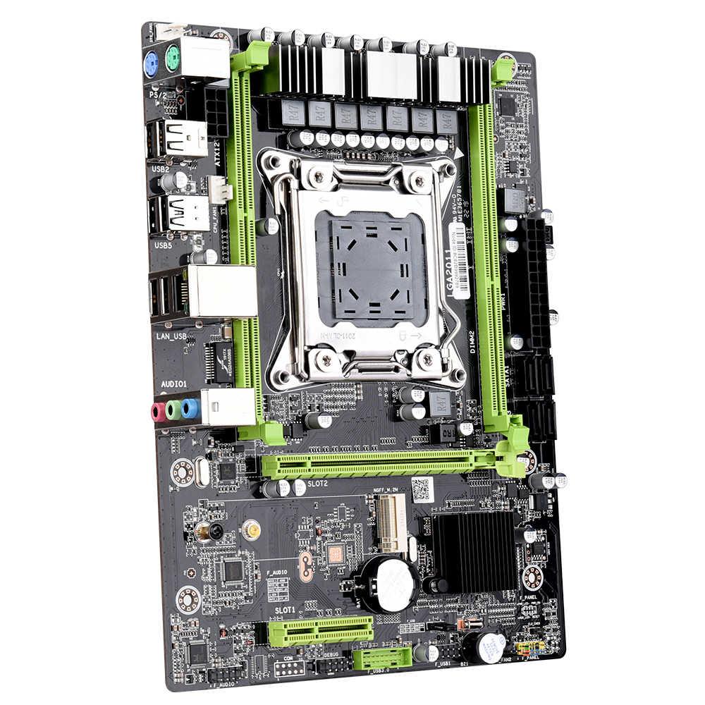 اللوحة الأم X79 M2 LGA2011 M-ATX USB2.0 SATA 3 جيجابايت/ثانية PCI-E NVME M.2 SSD دعم ذاكرة REG ECC ومعالج Xeon E5