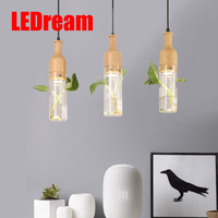Creative Personality DIY Rural Aquatic Plants Art Chandelier LED Bar Restaurant Balcony Window Cafe Lamps And