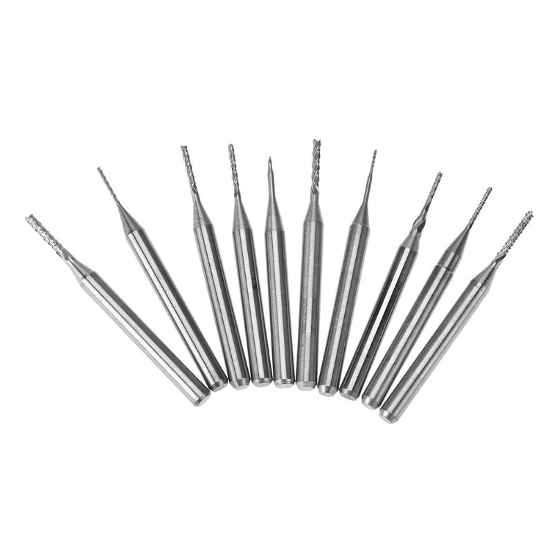 10PCS/SET 0.5-1.4mm PCB Engraving Cutter Coat Carbide Tools CNC Cutting Bits,woodworking router bit,,Solid carbide tool, free shipping haft straight router bits cnc cutter carbide cutting tools engraving bit work on pvc wood machine