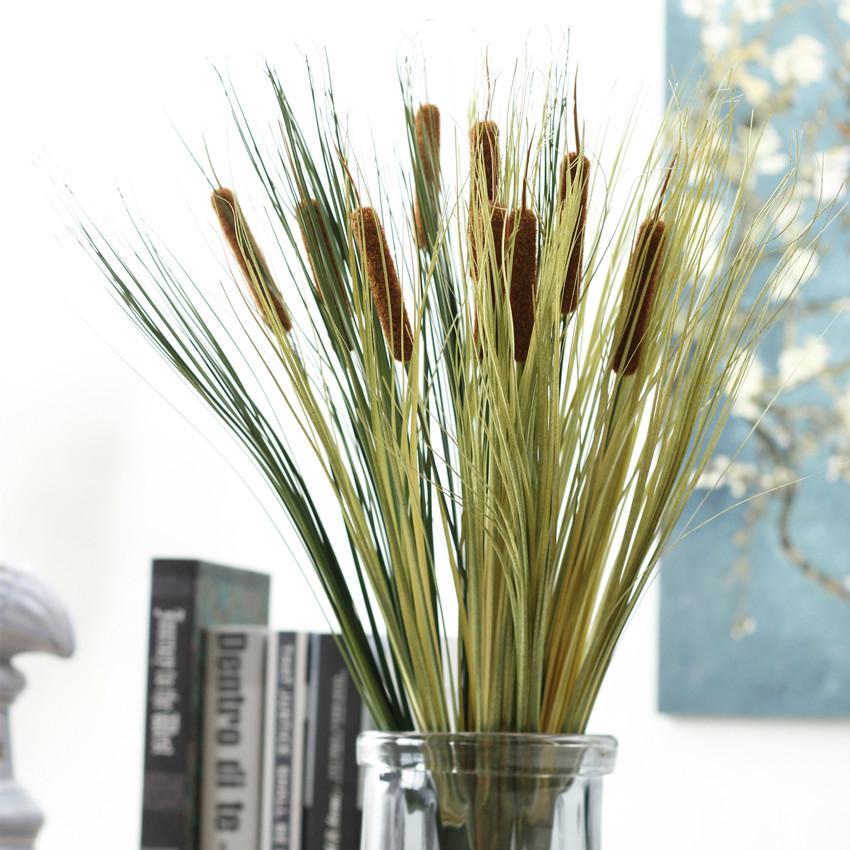 European artificial reed plant onion grass water candle grass plant wedding home office decor grass