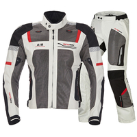 Men's Motorcycle Summer air jackets moto pants Motocross Suit Bike motorbike jacket racing Jersey with Protective Gears pads