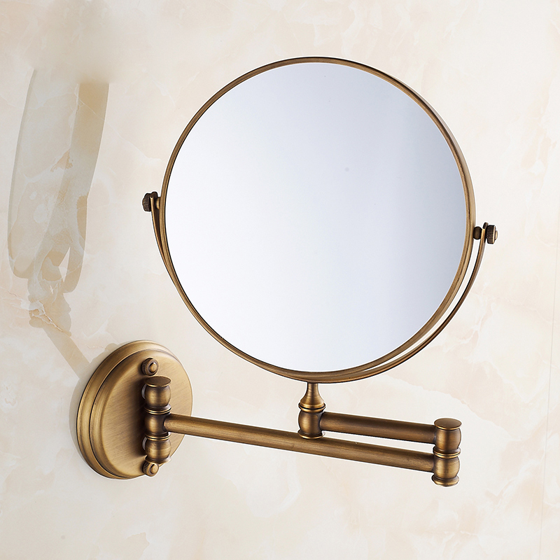 brass bathroom mirrors free shipping european style 8 inches side antique 12158