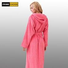 6e84d18c40f05 Банный халат с капюшоном из 100% хлопка для мужчин и женщин, легко  впитывает влагу