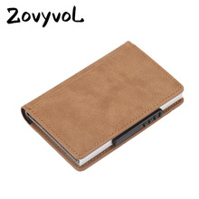 ZOVYVOL 2019 New RFID Card Holder Blocking Crad Wallet Metal Men Women Single Box Minimalist Aluminium for For