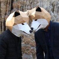 Akita dog mask Halloween party Bar kawaii cute face masks anime fashion insider low poly manual camouflage DIY winter new 2018